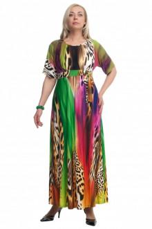 """Платье """"Олси"""" 1605035/2 ОЛСИ (Разноцветный/леопард 2)"""