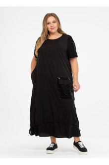 """Платье """"Её-стиль"""" 110200601 ЕЁ-стиль (Чёрный)"""